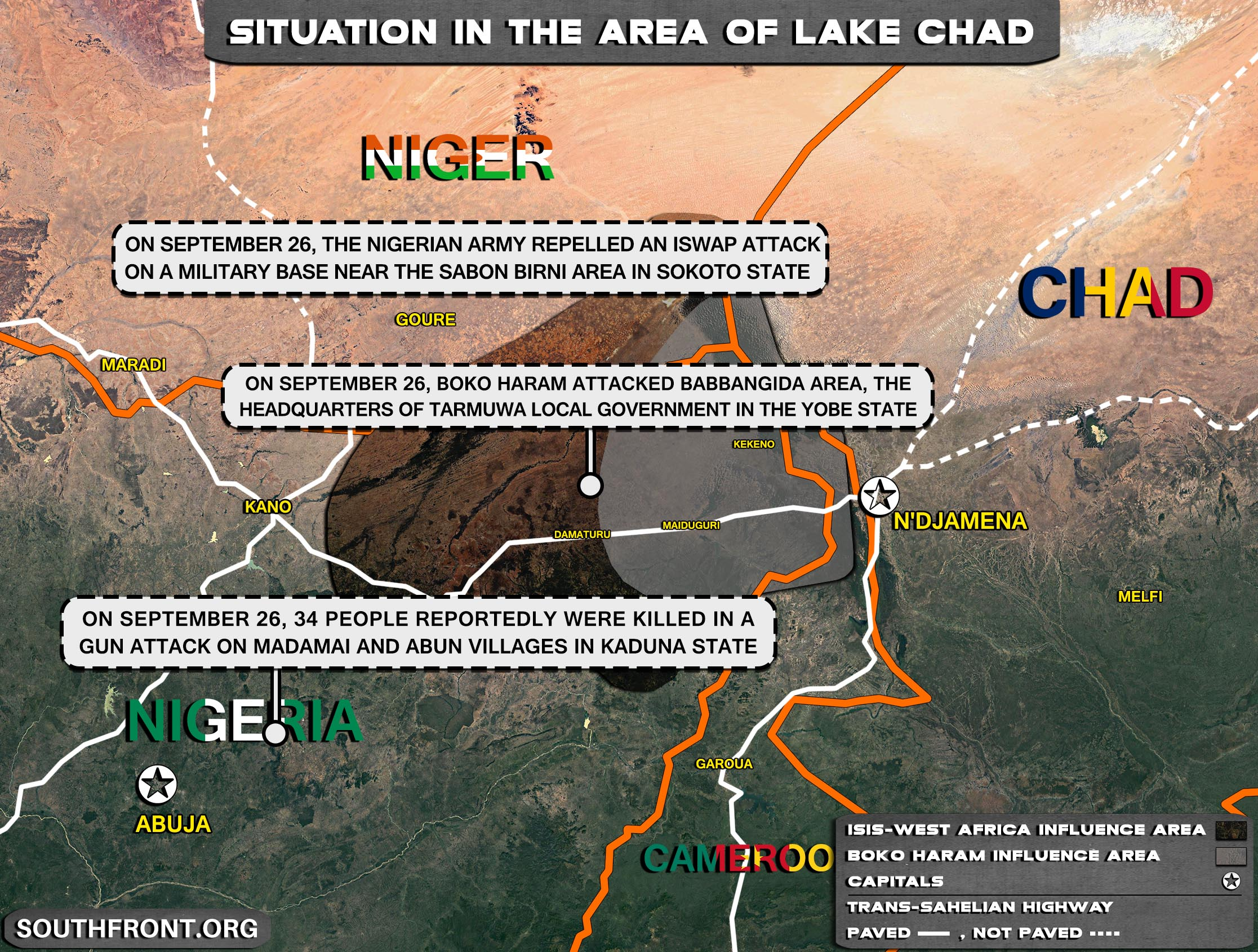 Military Situation In The Lake Chad Area On September 28, 2021 (Map Update)