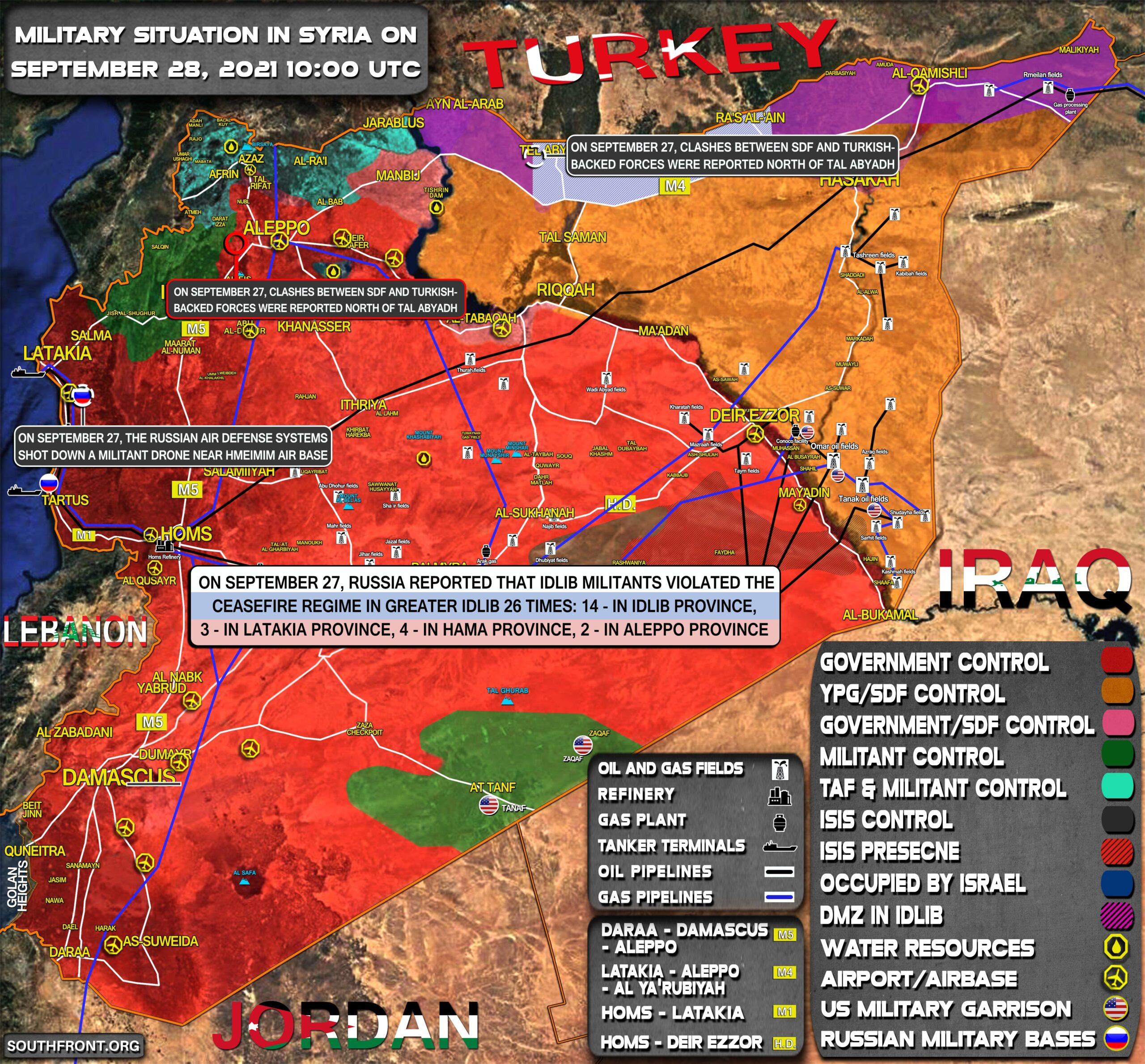 Military Situation In Syria On September 28, 2021 (Map Update)
