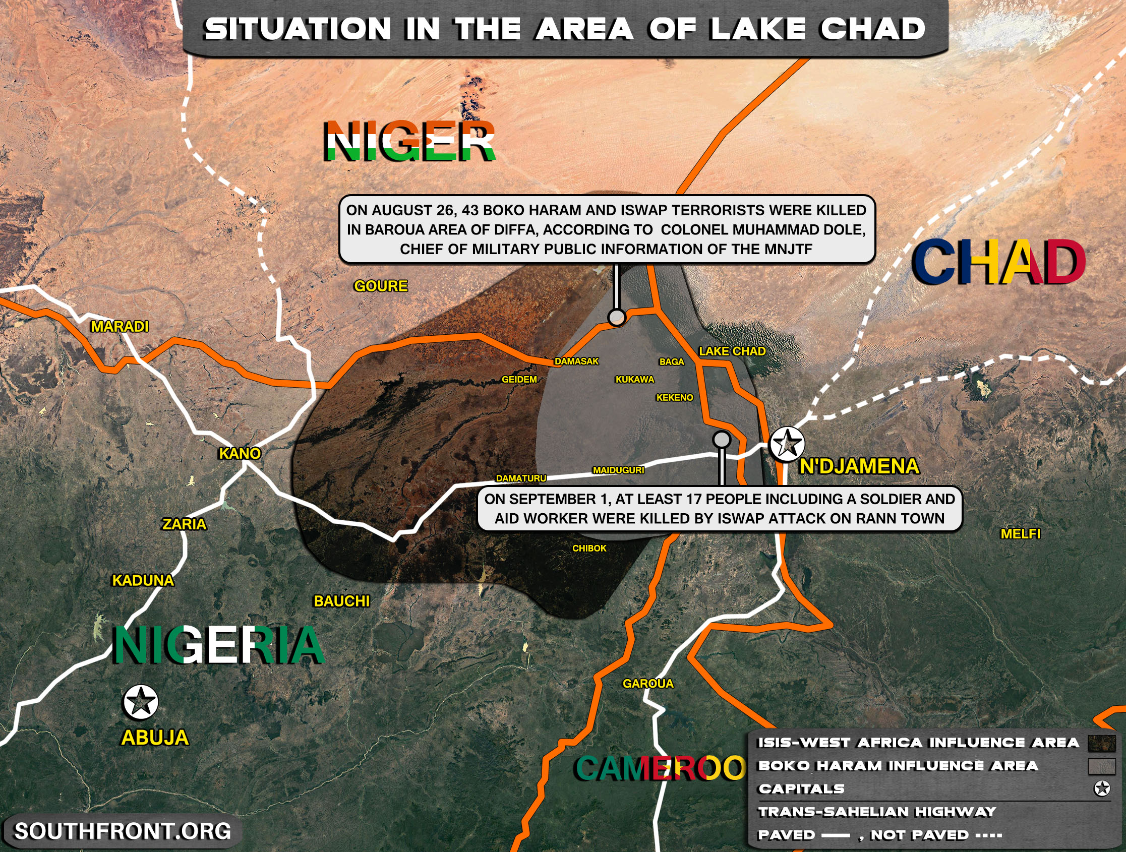 Military Situation In The Lake Chad Area On September 2, 2021 (Map Update)