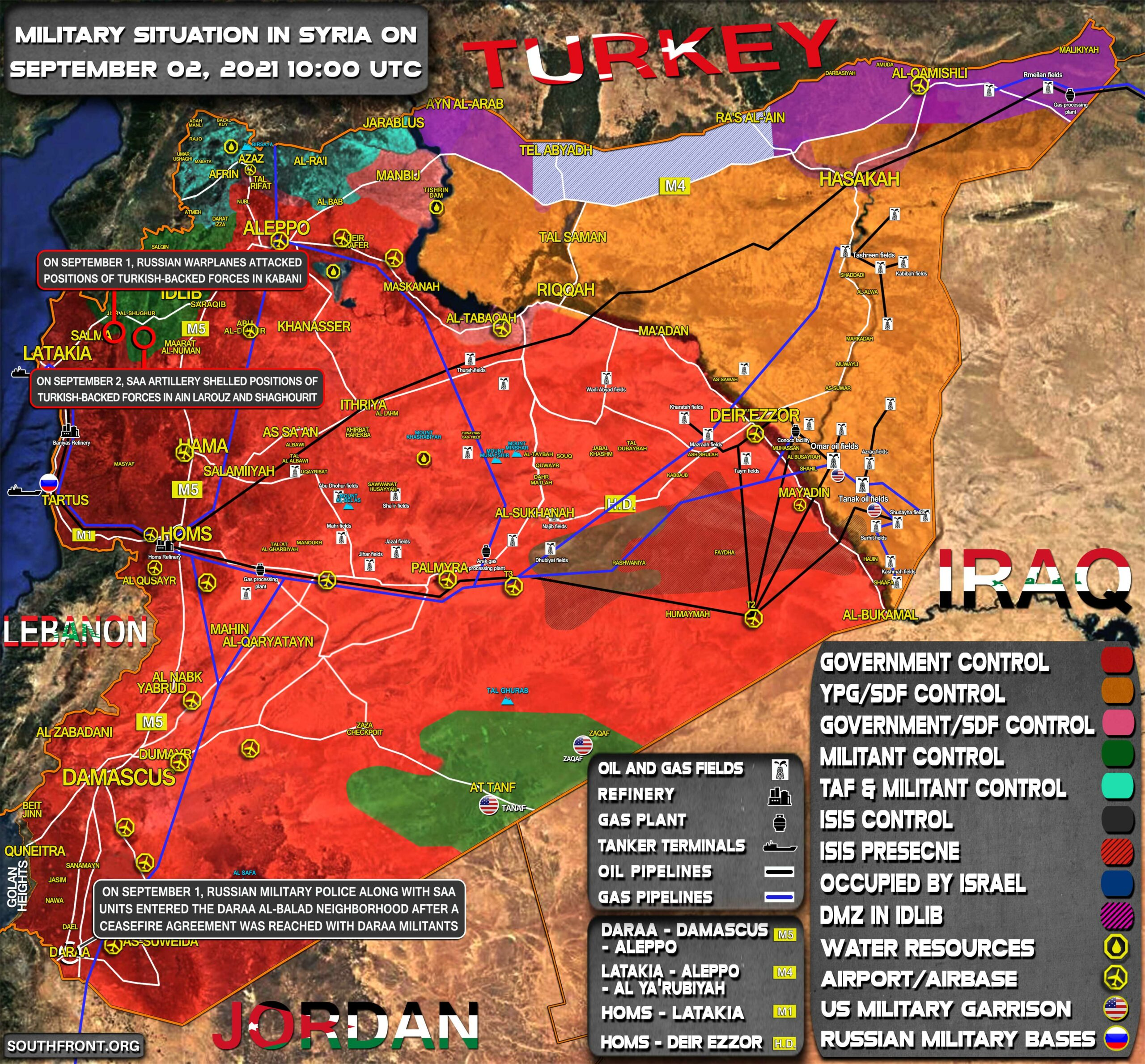 Military Situation In Syria On September 2, 2021 (Map Update)