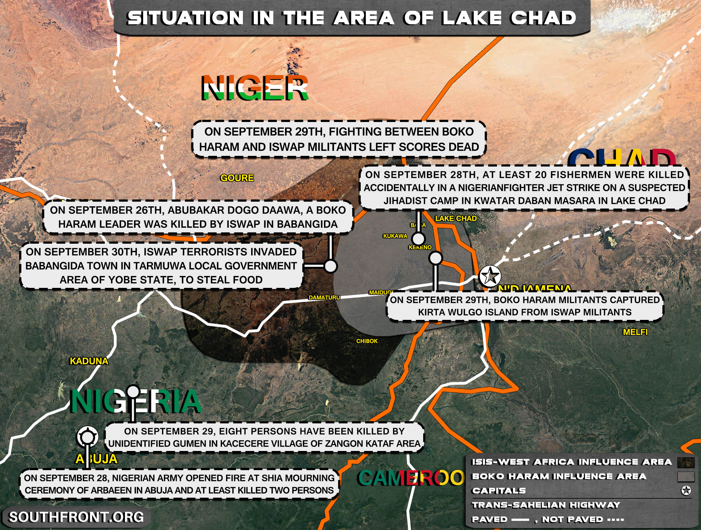 Military Situation In The Lake Chad Area On September 30, 2021 (Map Update)