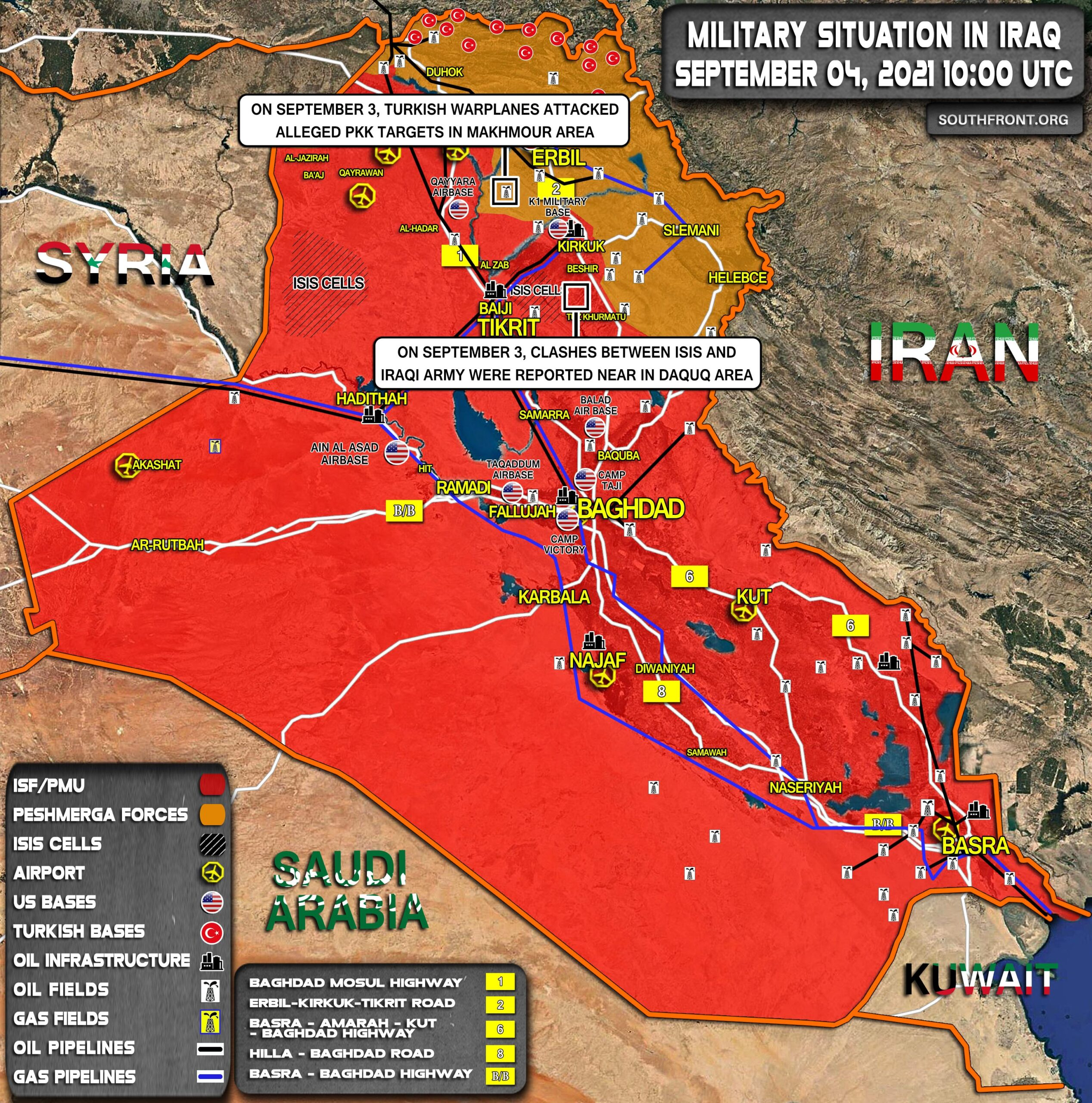 Military Situation In Iraq On September 4, 2021 (Map Update)
