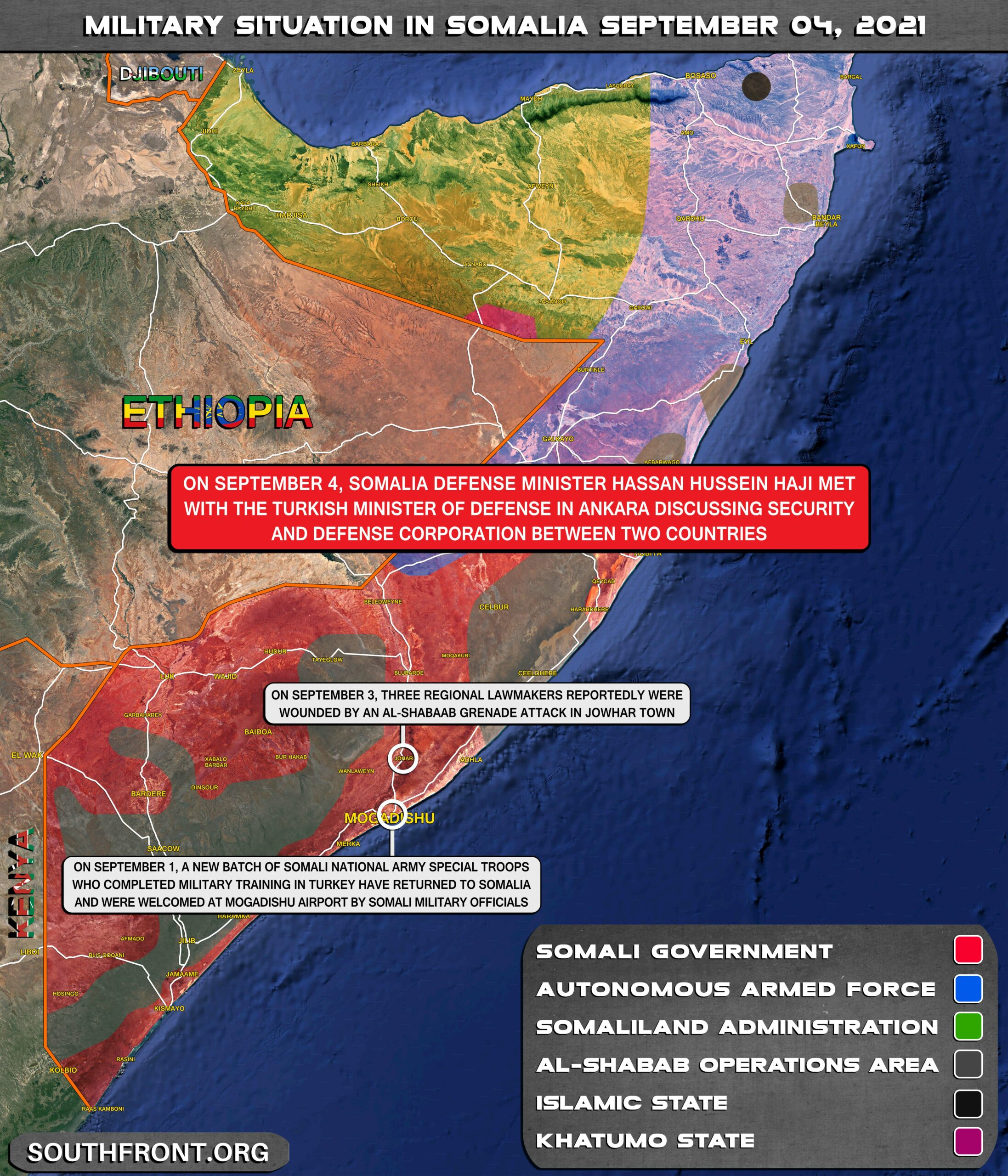 Military Situation In Somalia On September 4, 2021 (Map Update)