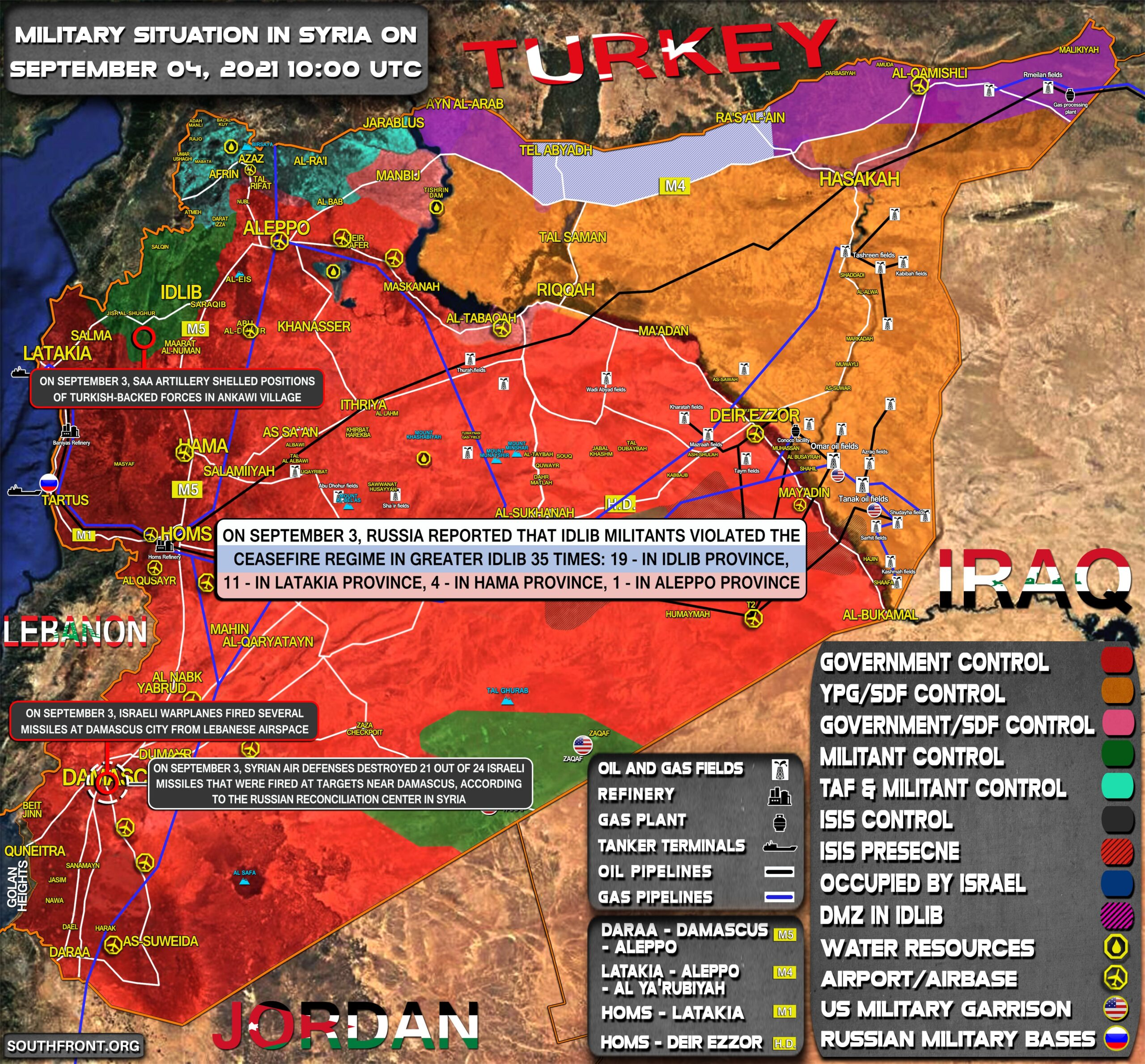 Military Situation In Syria On September 4, 2021 (Map Update)