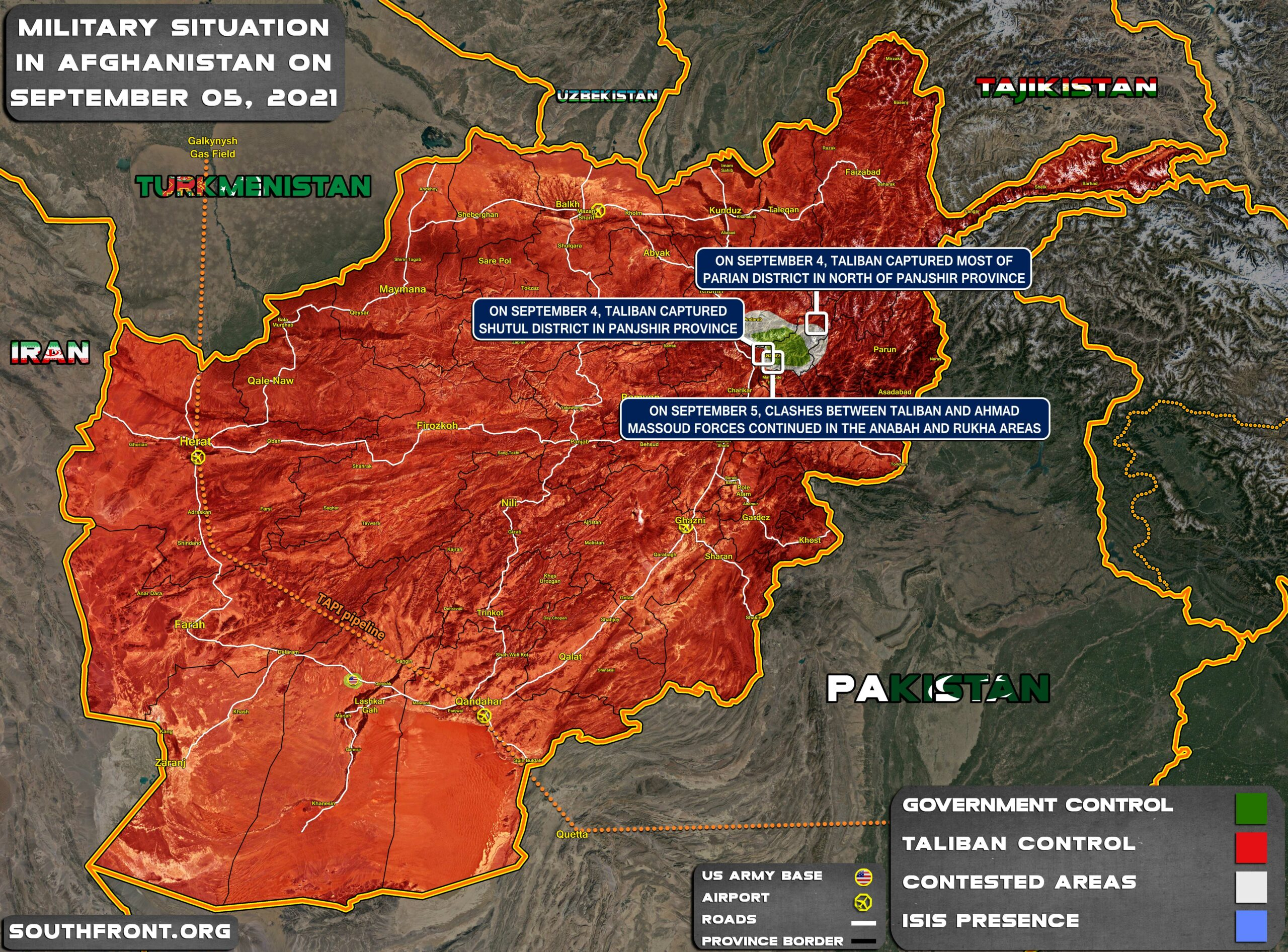 Military Situation In Afghanistan On September 5, 2021 (Map Update)