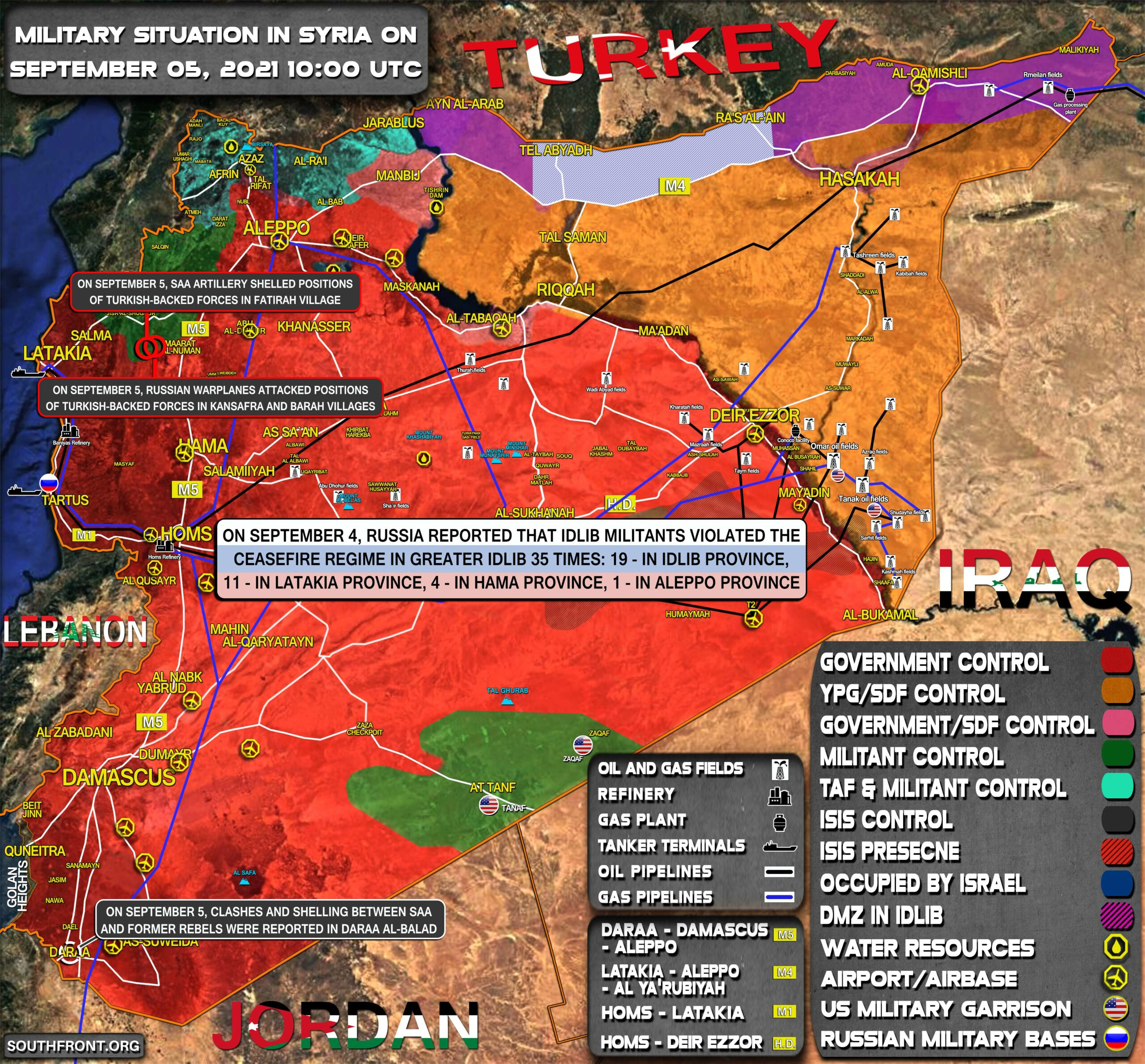 Military Situation In Syria On September 5, 2021 (Map Update)