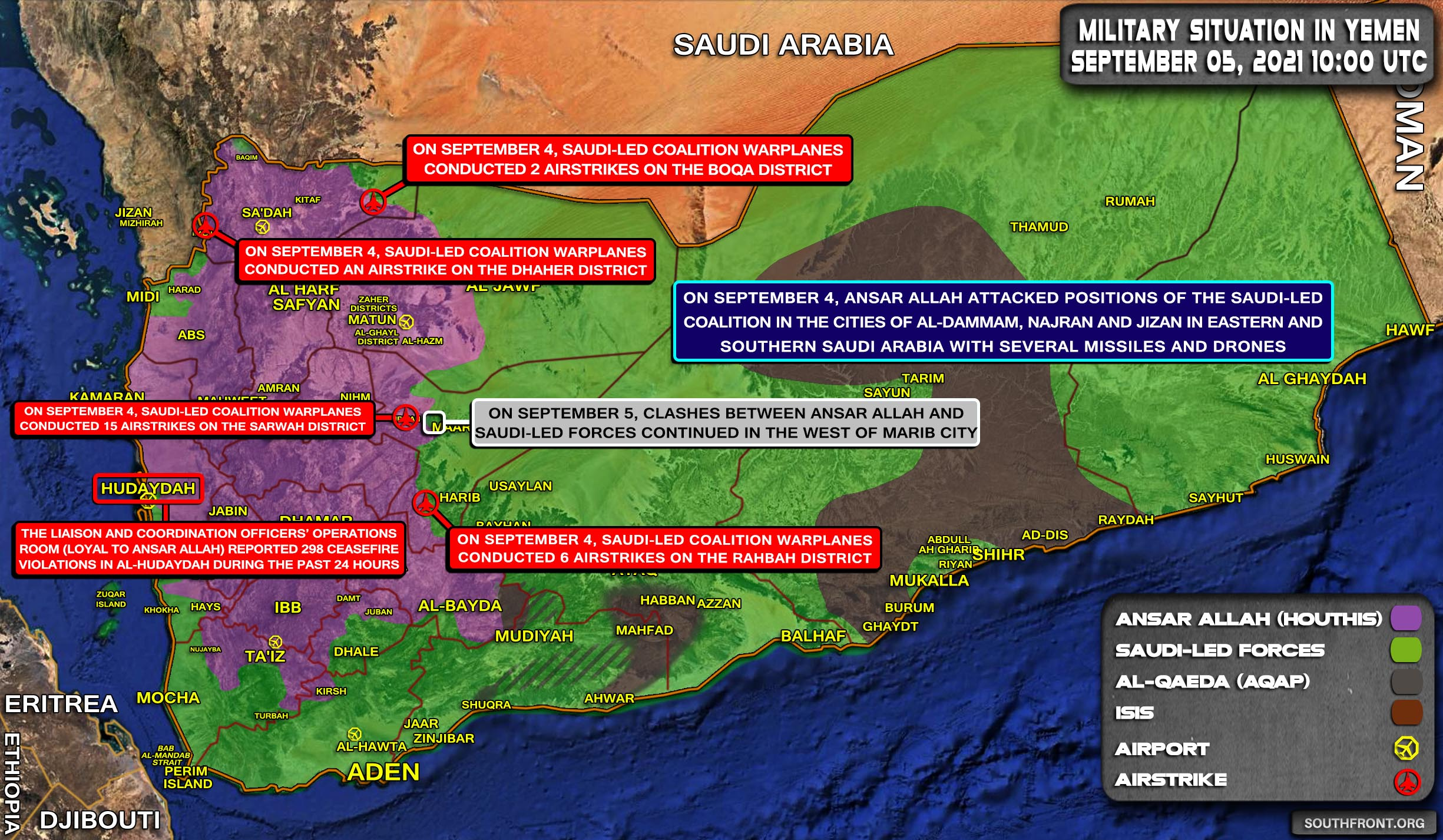 Military Situation In Yemen On September 5, 2021 (Map Update)
