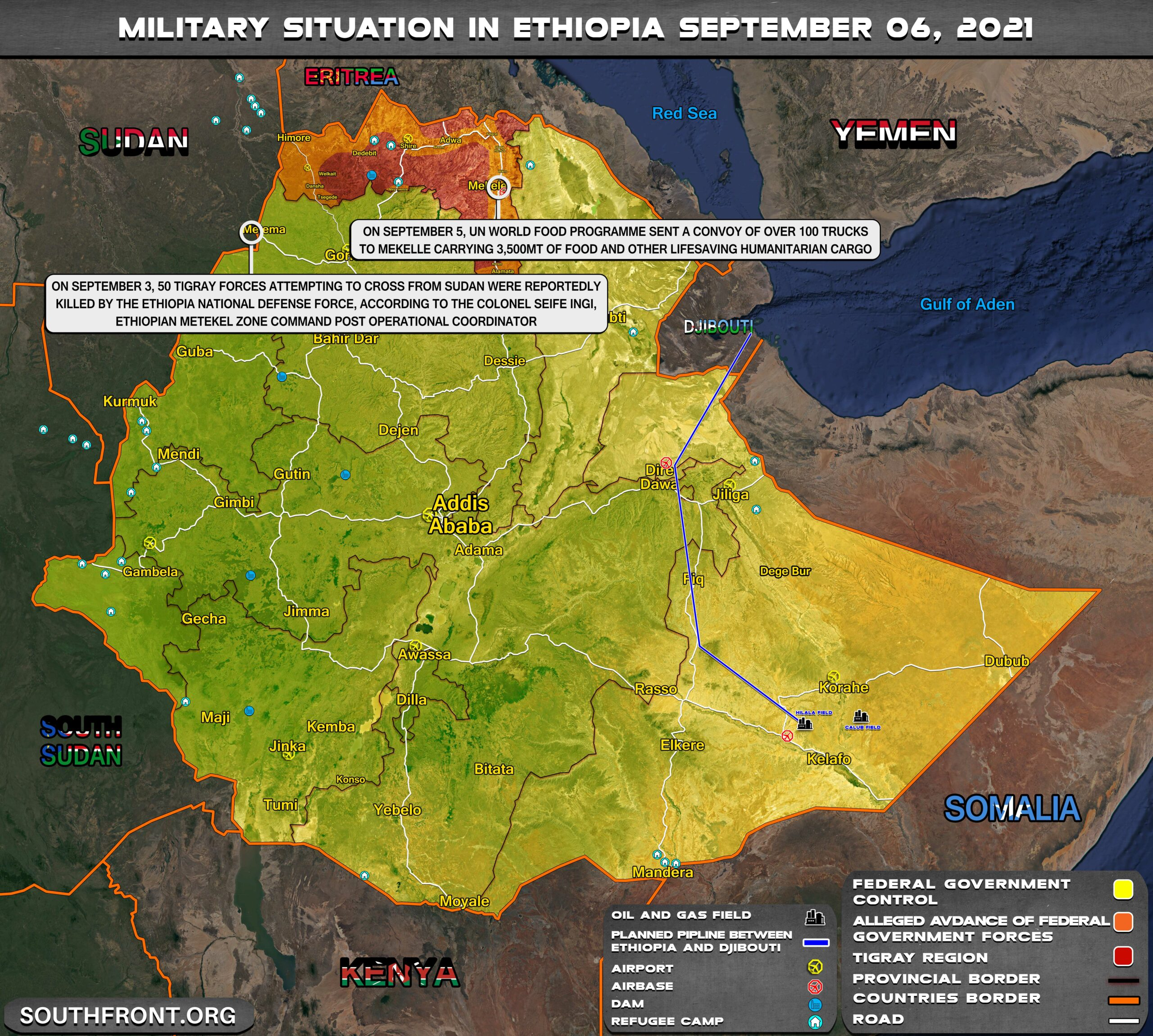 Military Situation In Ethiopia On September 6, 2021 (Map Update)