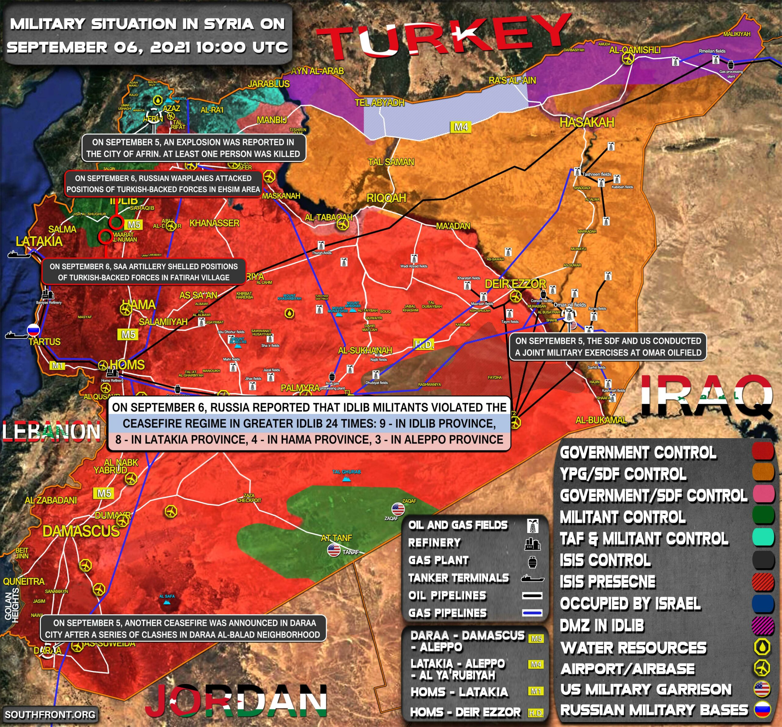 Military Situation In Syria On September 6, 2021 (Map Update)