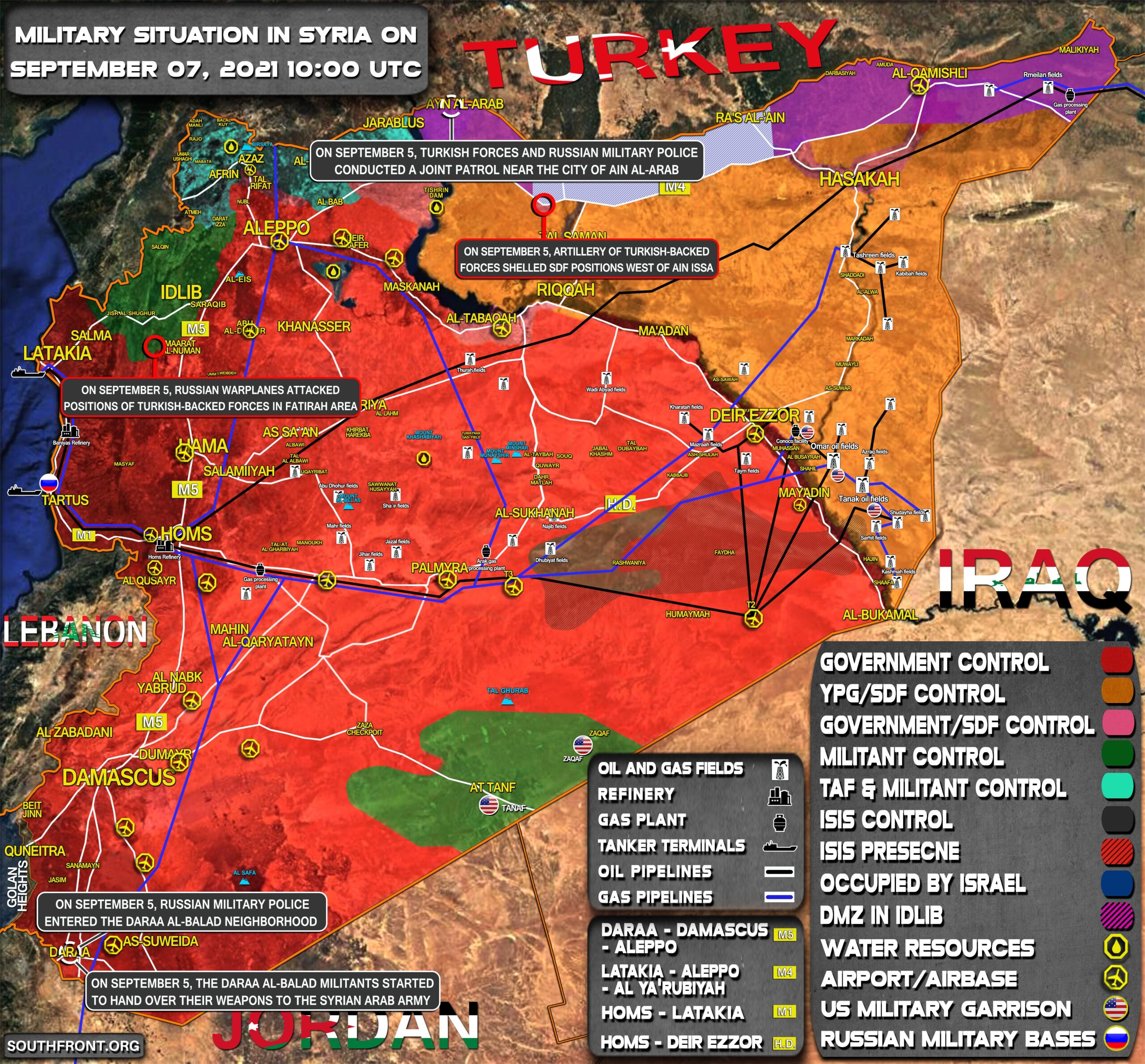 Military Situation In Syria On September 7, 2021 (Map Update)