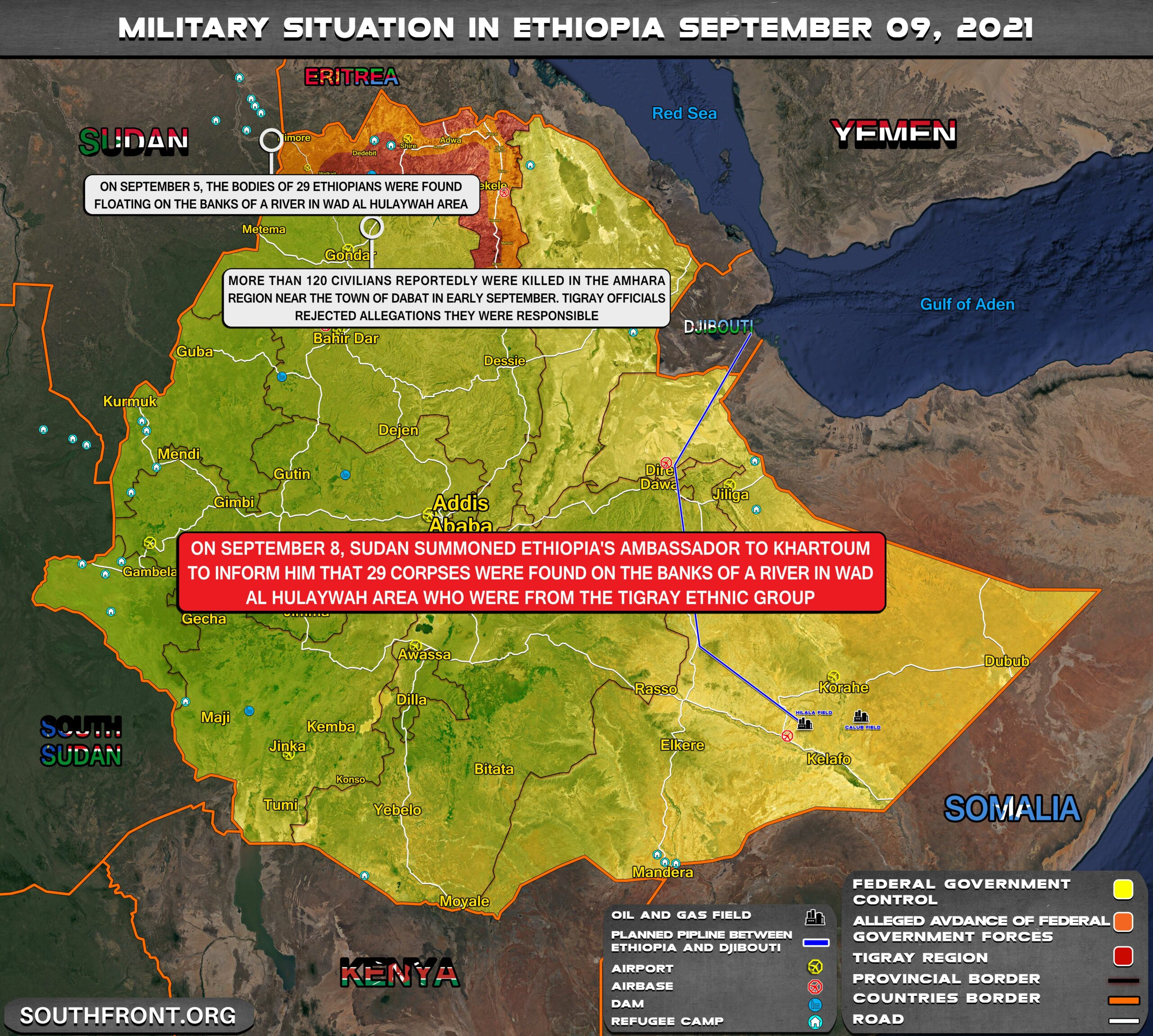 Military Situation In Ethiopia On September 9, 2021 (Map Update)