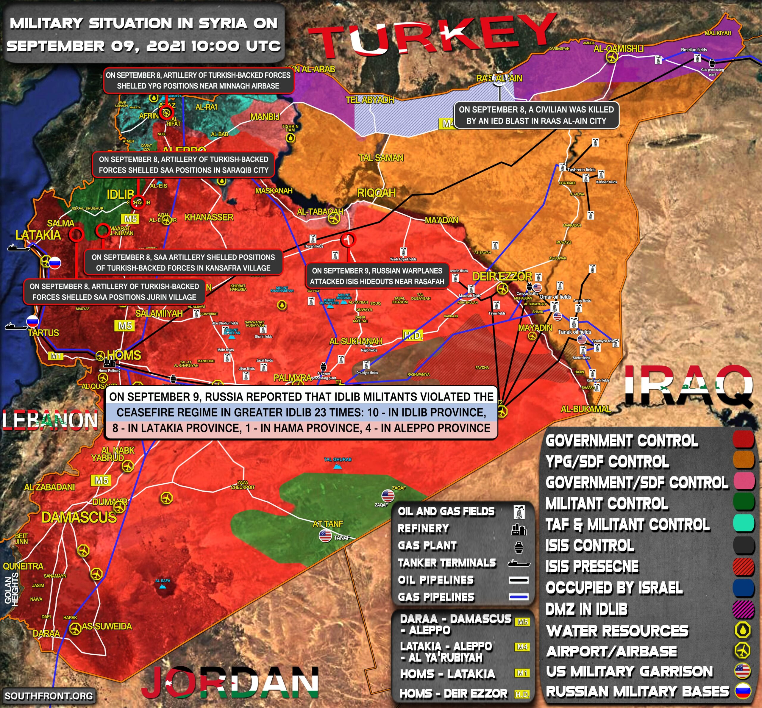 Military Situation In Syria On September 9, 2021 (Map Update)