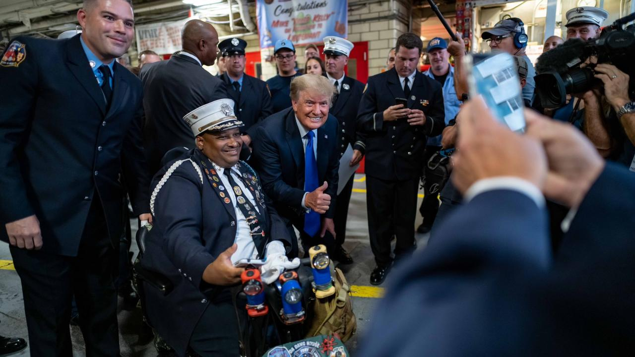 While Biden Joins 'Drone Club' At 9/11 Ceremonies, Trump Hits Streets Of NY