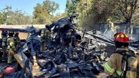 In Photos: Military Aircraft Crashed In Texas