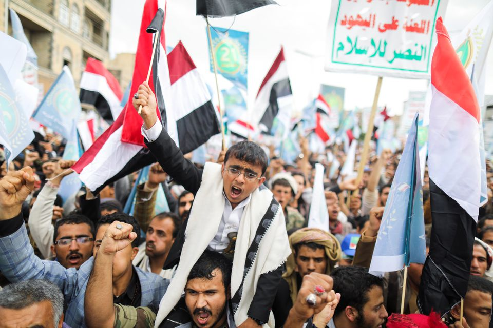 Saudi-led Coalition Strikes Kill Civilians As The Houthis Celebrate 7 Years Of Ousting Government
