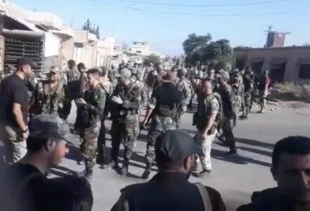 In Video: About 1,500 Syrian Soldiers Deployed In Tafas In Western Daraa