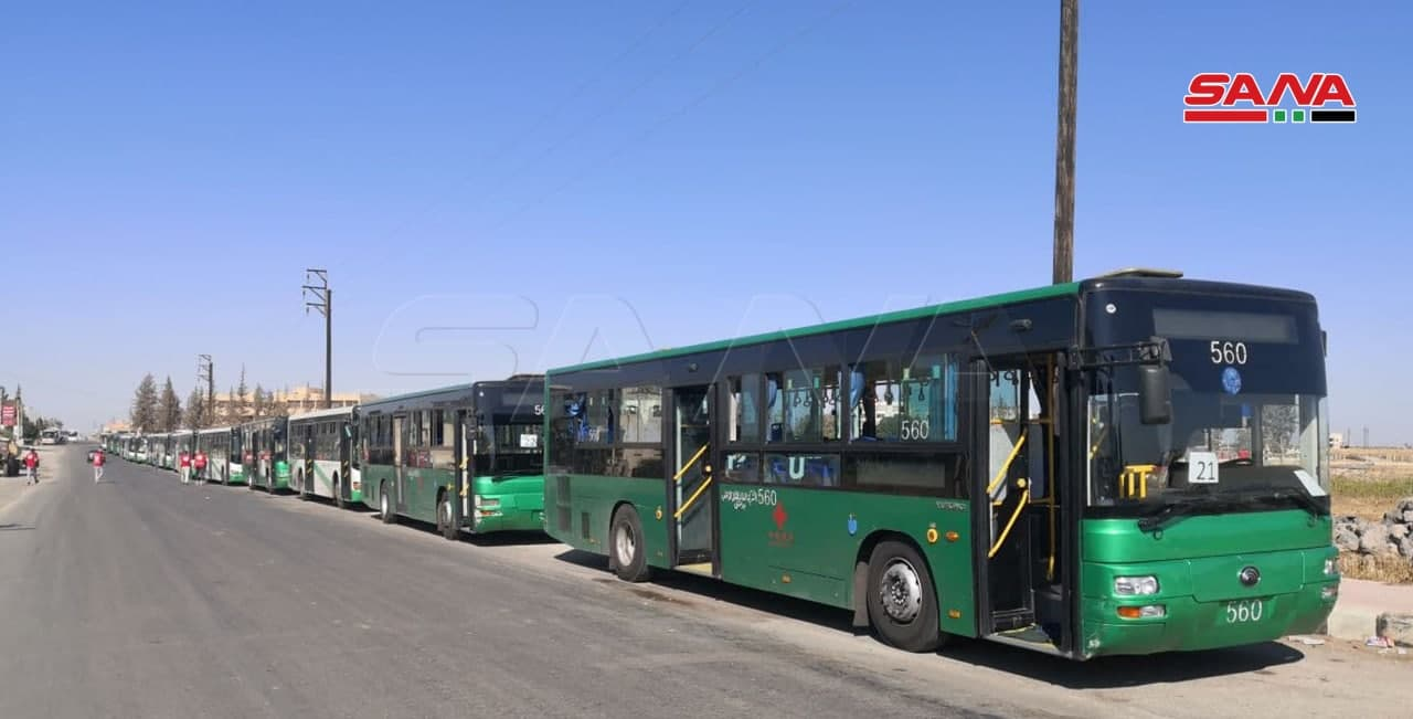 Daraa Al-Balad Leaders Call On Jordan King To Grant Them Refuge As Syrian Authorities Prepare Evacuation Buses (Video, Photos)