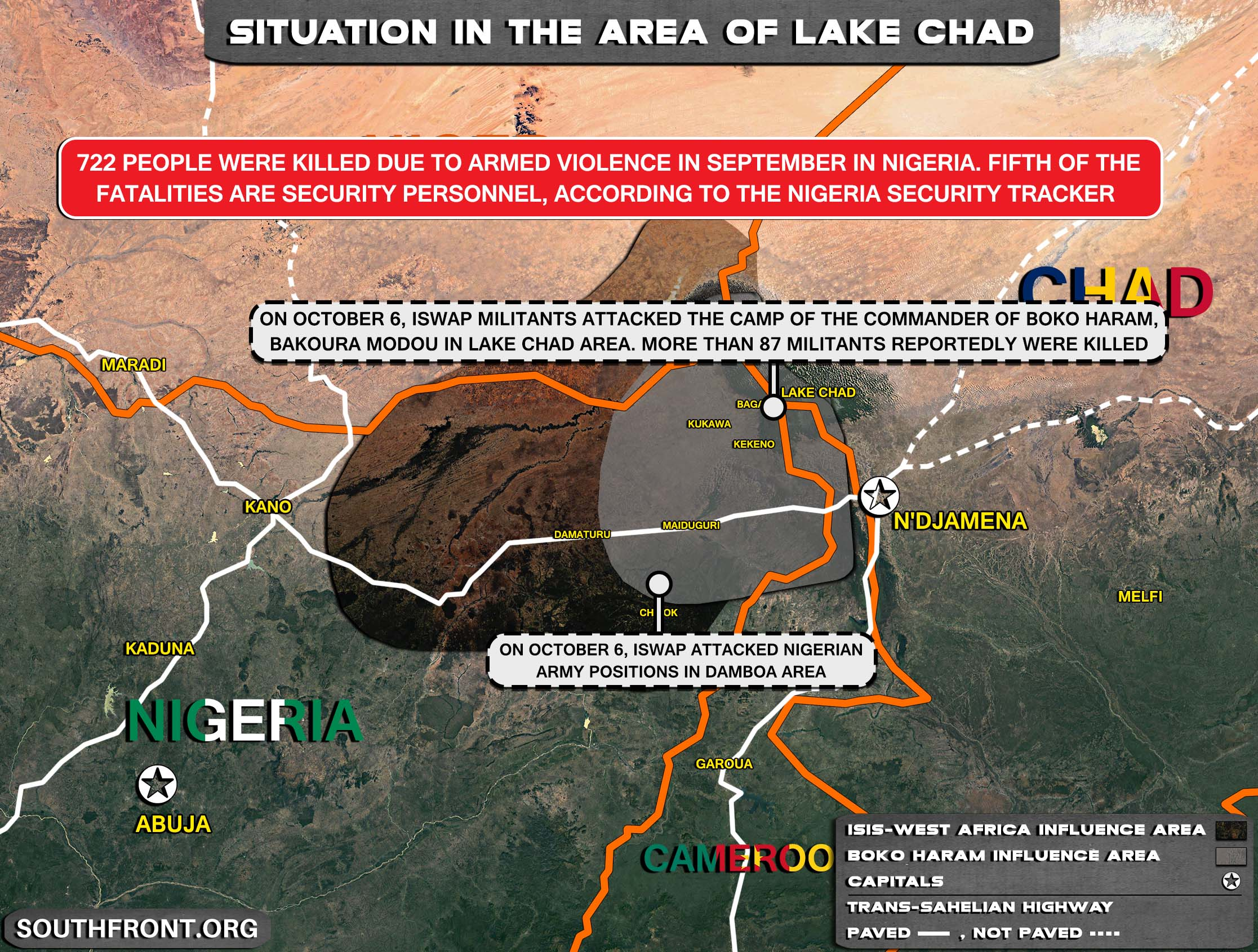 Military Situation In The Lake Chad Area On October 10, 2021 (Map Update)