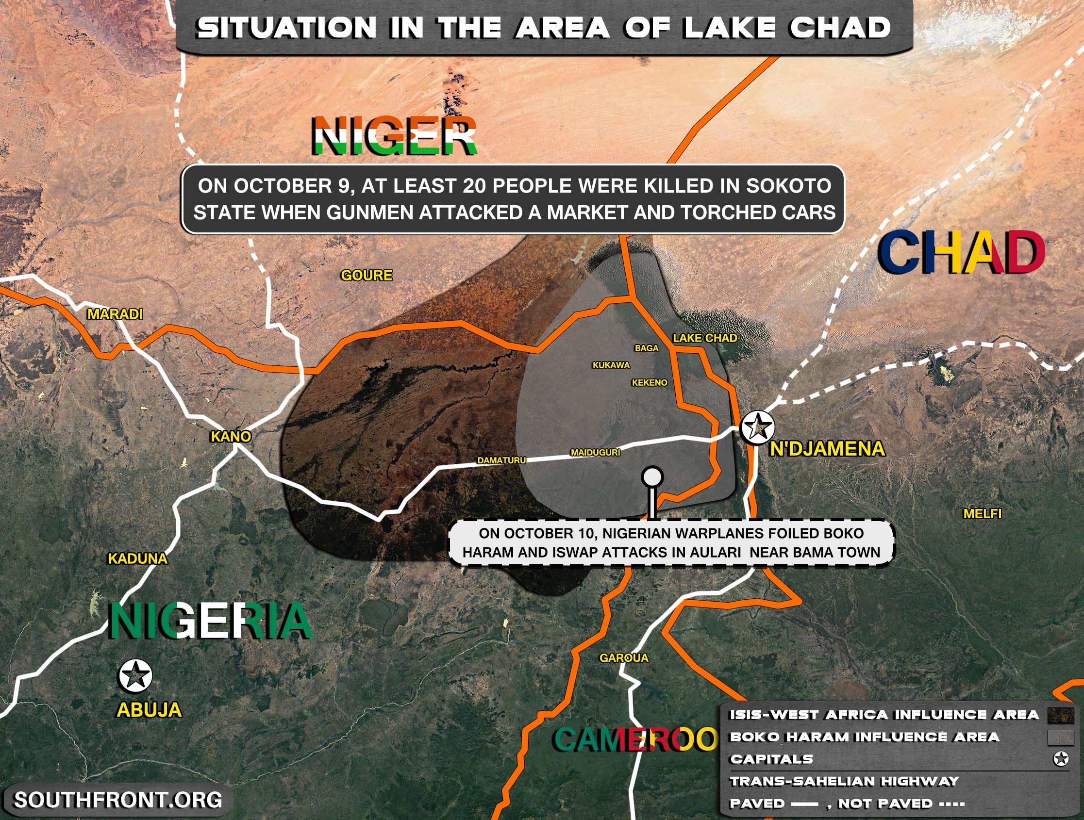 Military Situation In The Lake Chad Area On October 11, 2021 (Map Update)