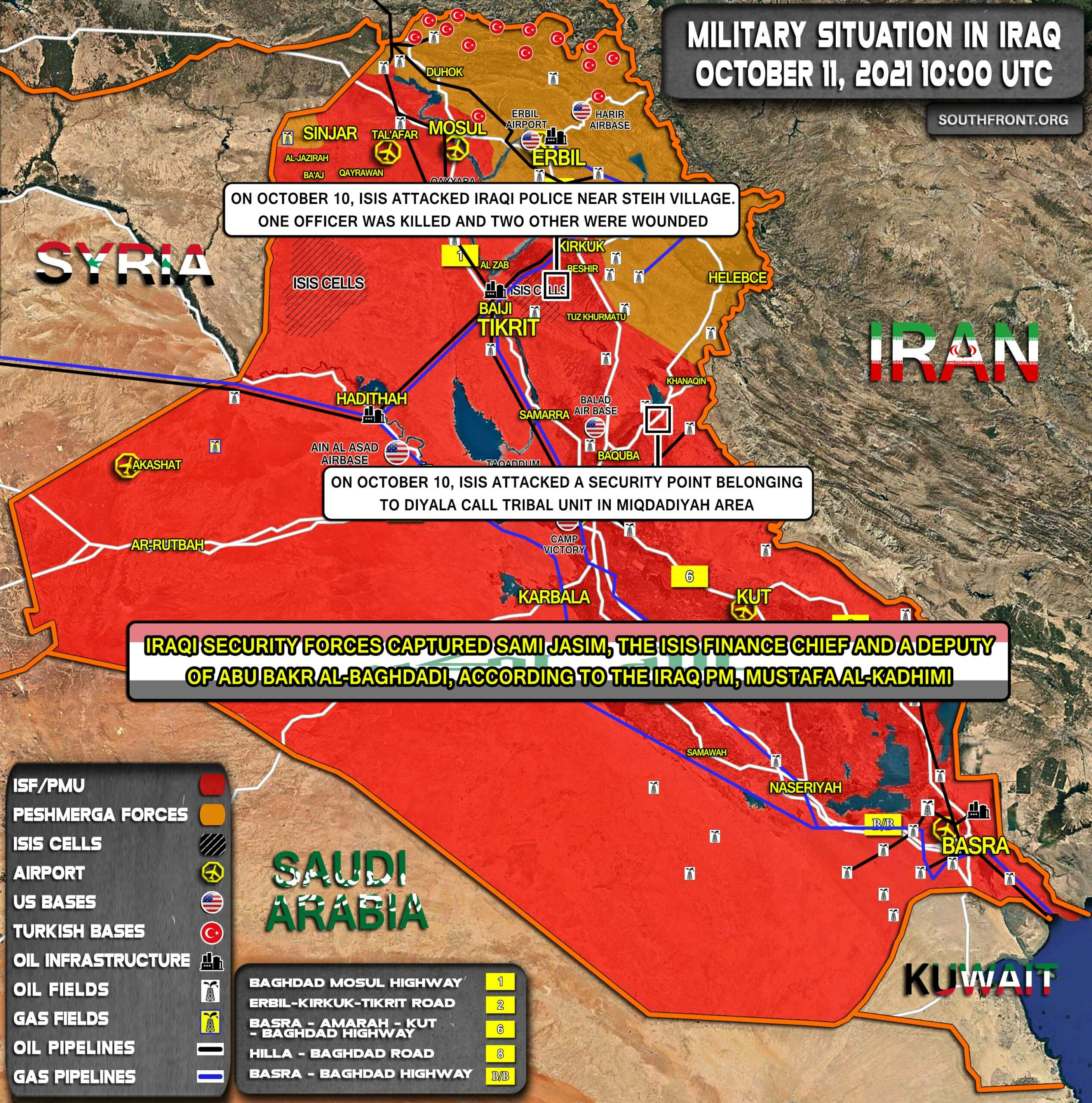 Military Situation In Iraq On October 11, 2021 (Map Update)