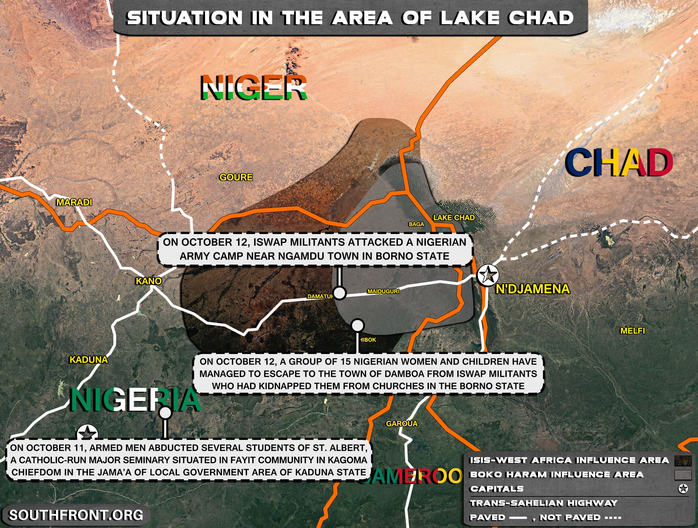 Military Situation In The Lake Chad Area On October 13, 2021 (Map Update)