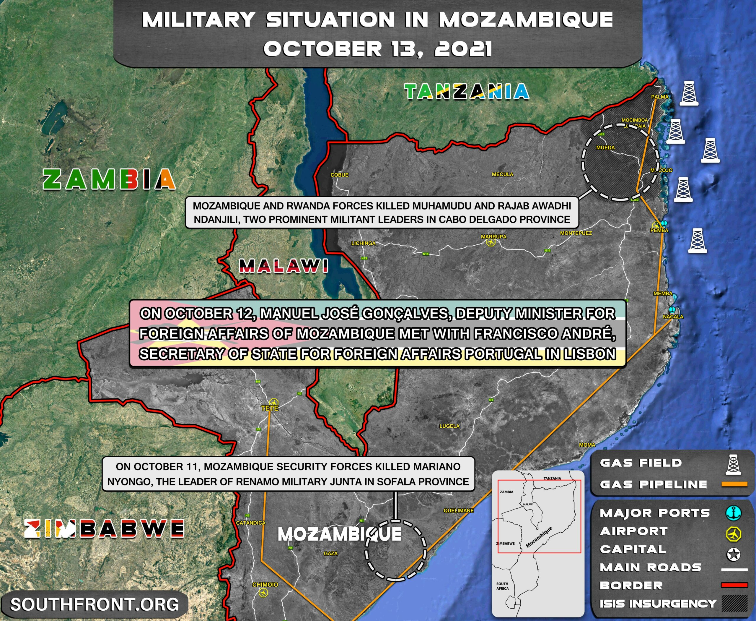 Military Situation In Mozambique On October 13, 2021 (Map Update)