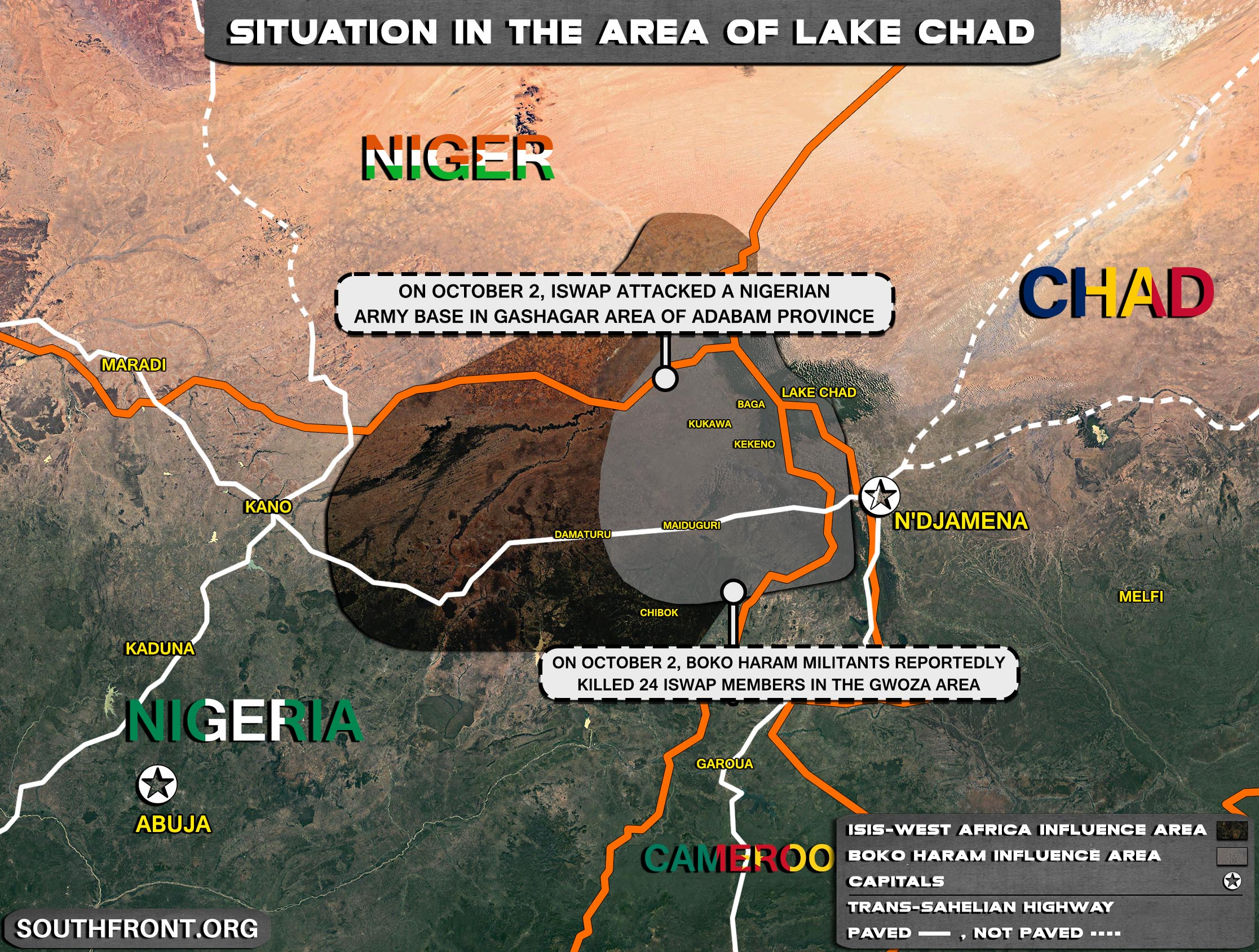 Military Situation In The Lake Chad Area On October 3, 2021 (Map Update)