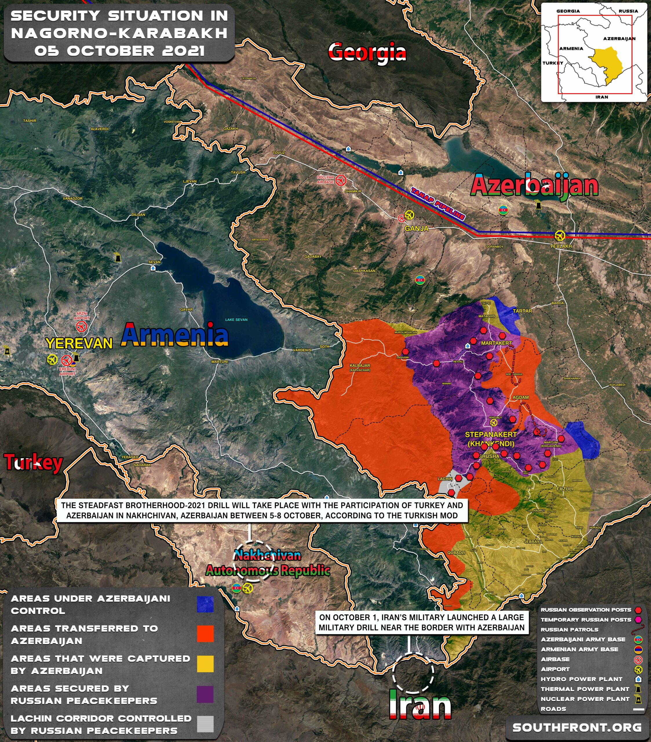 Military Situation In And Around Nagorno-Karabakh On October 5, 2021 (Map Update)