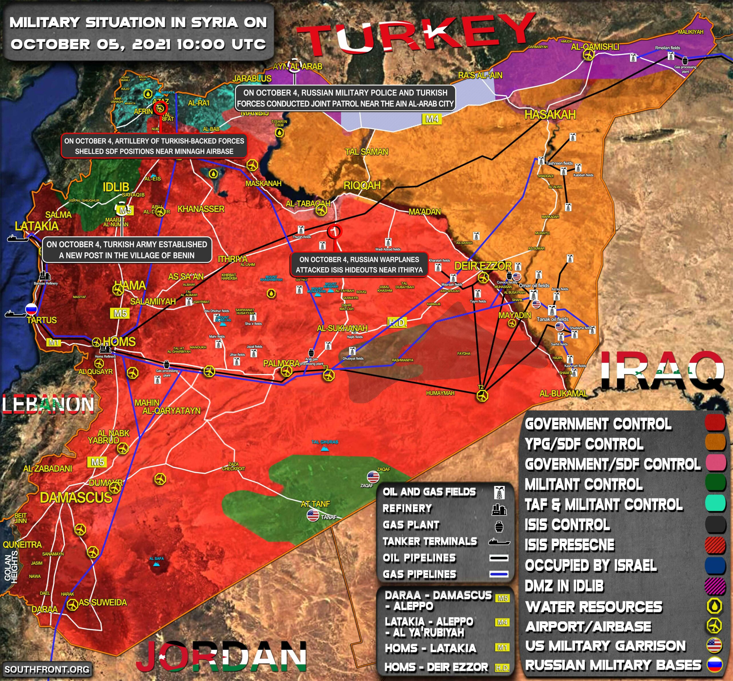 Military Situation In Syria On October 5, 2021 (Map Update)
