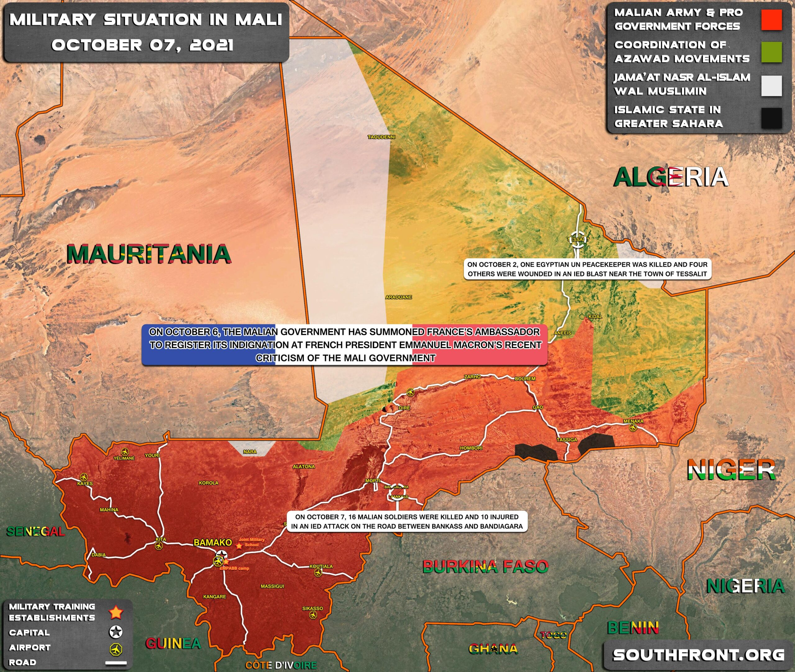 Military Situation In Mali On October 7, 2021 (Map Update)