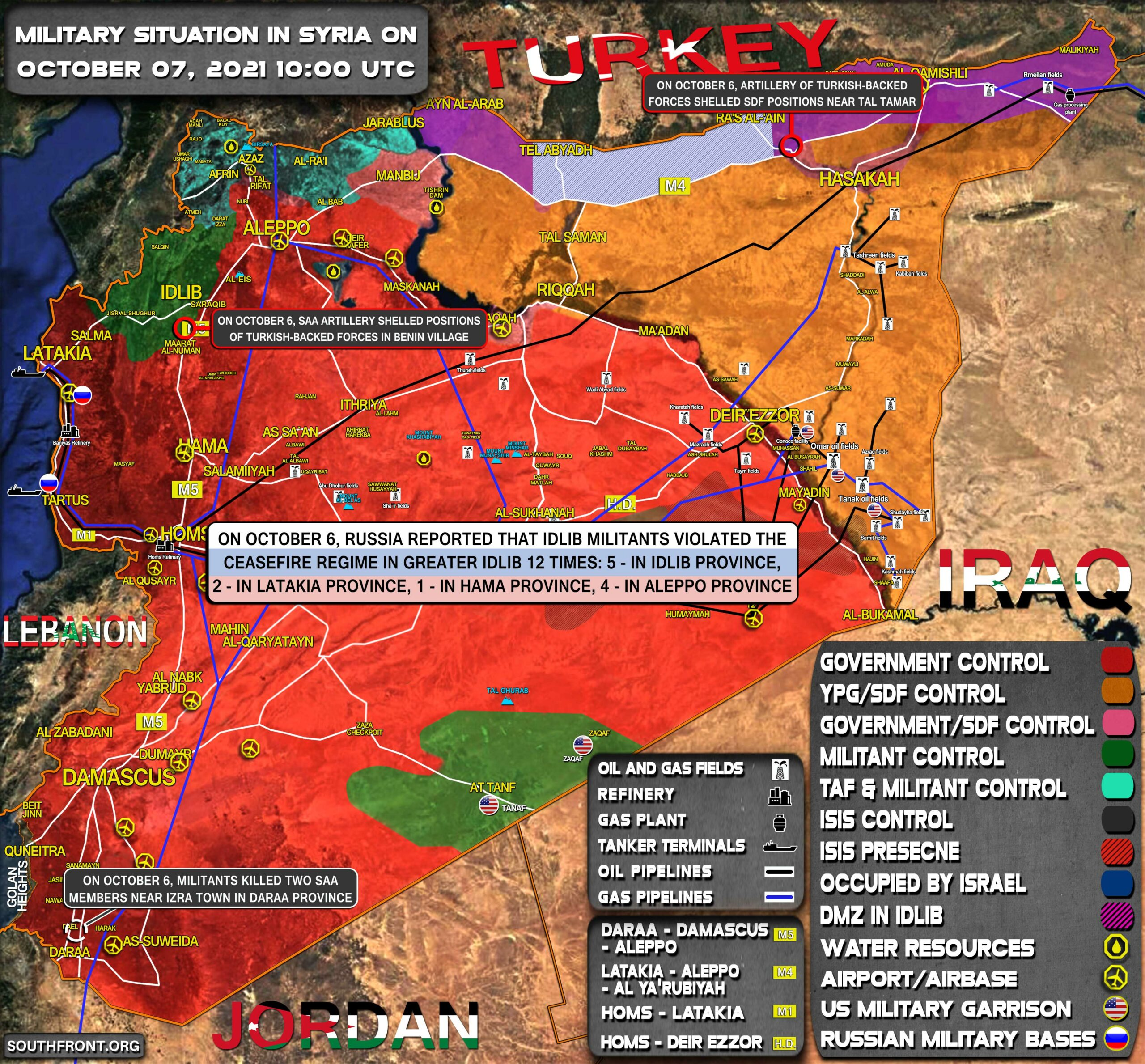 Military Situation In Syria On October 7, 2021 (Map Update)