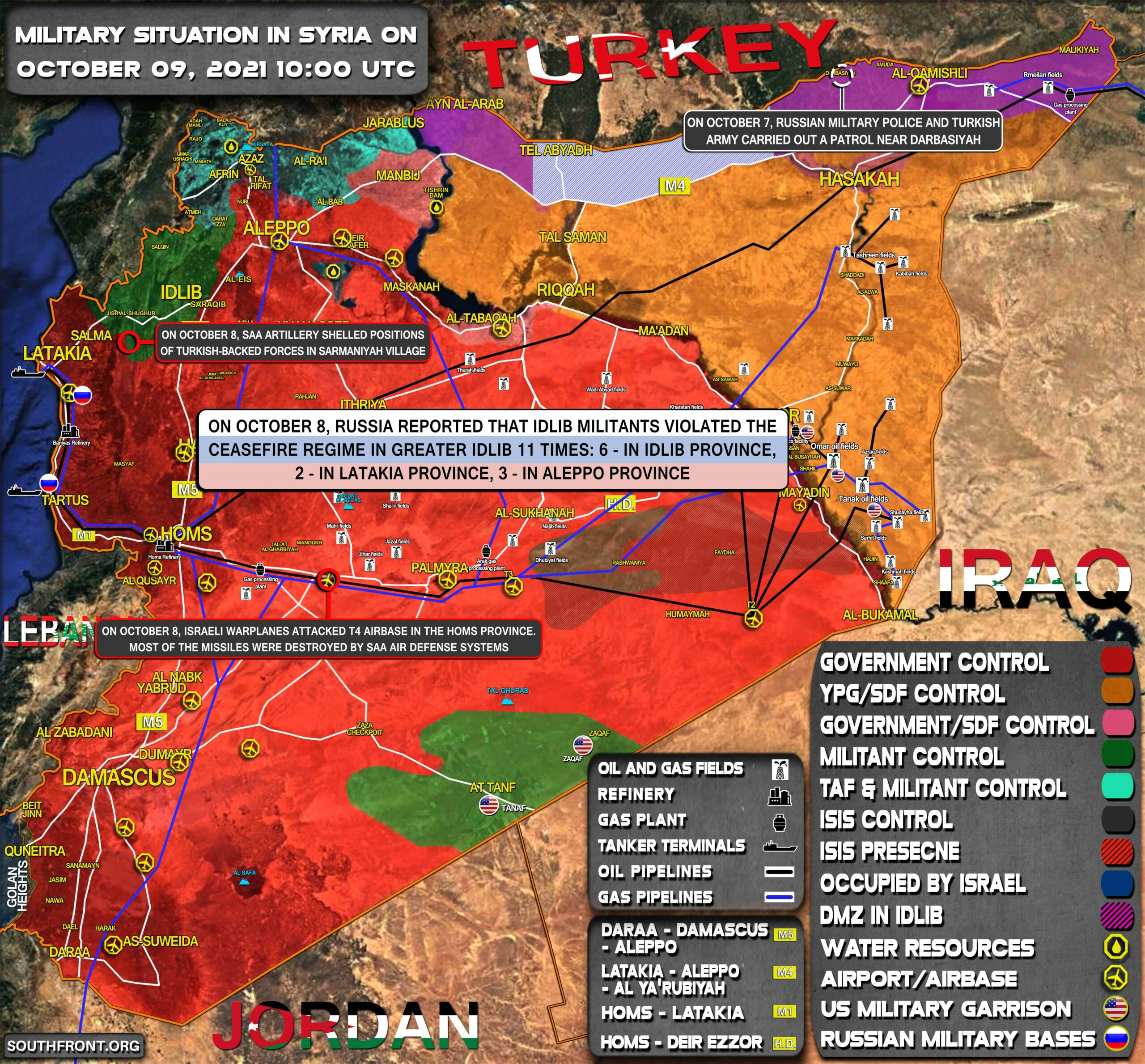 Military Situation In Syria On October 9, 2021 (Map Update)