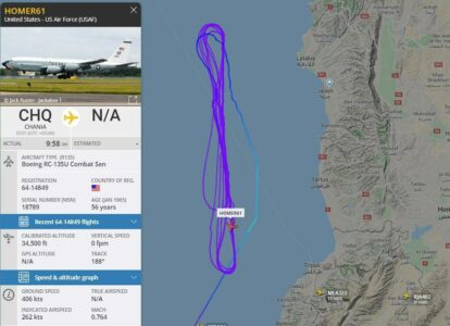 US Reconnaissance Aircraft Patrolling Syrian Coast, While Unidentified Drone Targeted Hmeimim Airbase