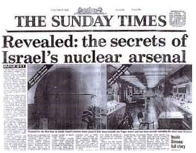Concern About Iran Prompts Israel To Weigh Acknowledgement Of Its Own Nuclear Weapons