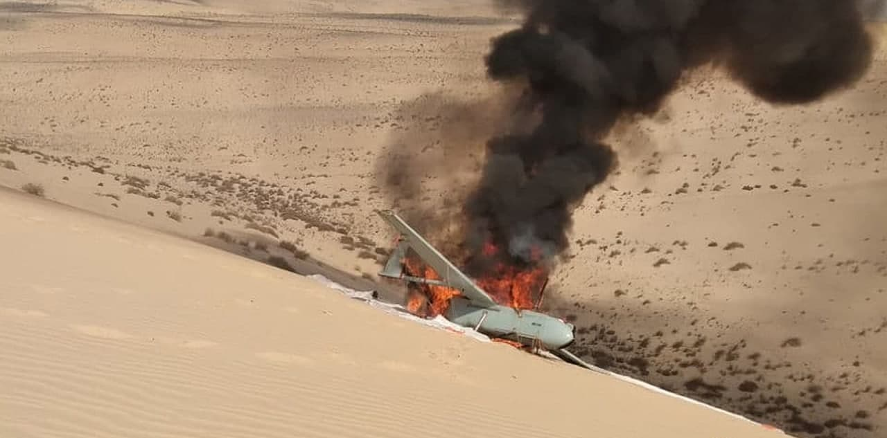 ISIS Terrorists Burned Down Egyptian Military Drone That Crash Landed In Sinai (Photos)