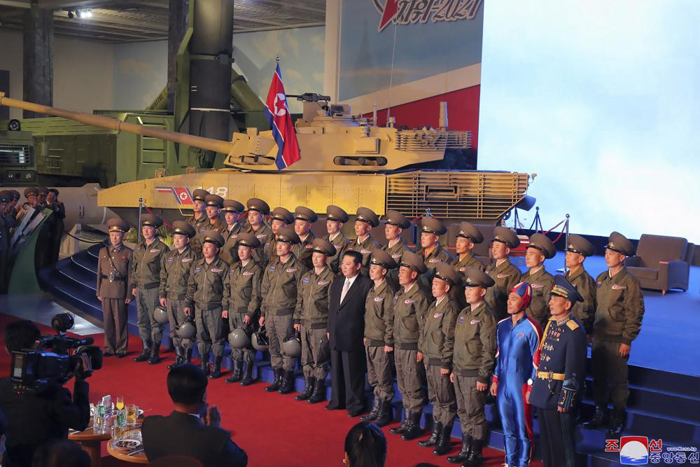 """North Korea Holds Weapons Exhibition As Kim Vows Future """"Invincible Military"""""""